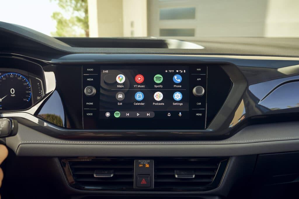 2022 VW Taos SEL touchscreen blue