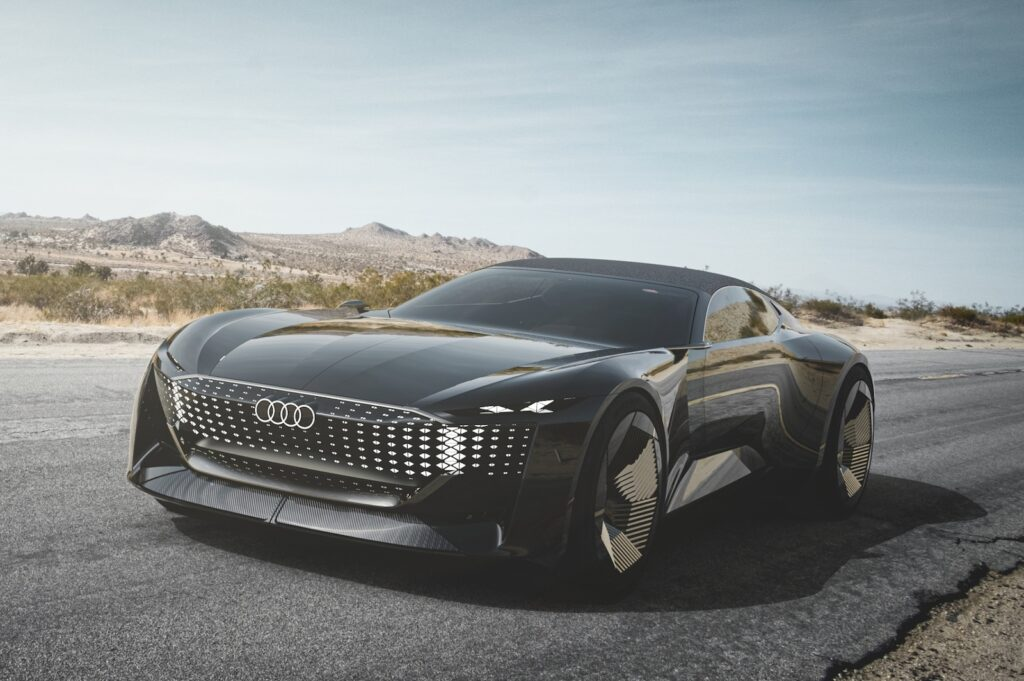 Audi skysphere concept front on road