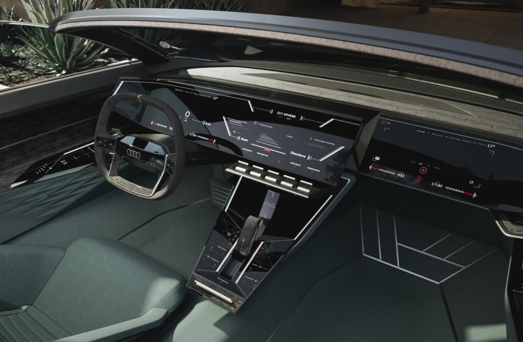 Audi skysphere concept with driver controls