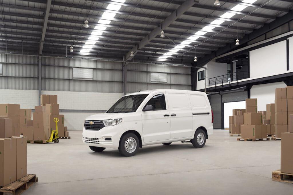 Chevrolet Tornado van in warehouse