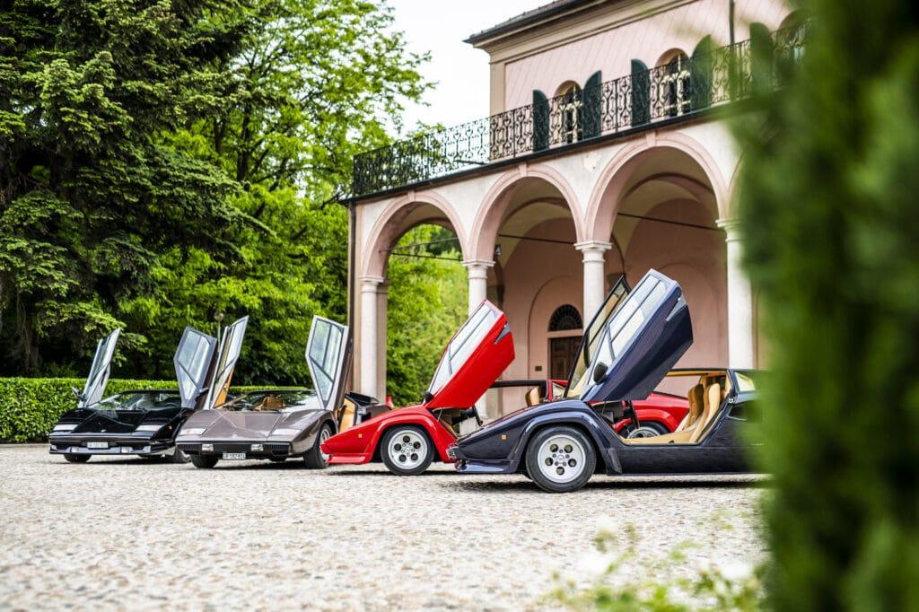 Lamborghini Countach family doors open