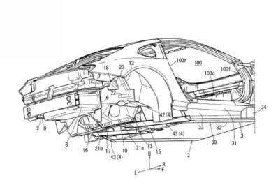Mazda sports coupe platform patent rendering