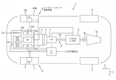 Mazda sports coupe powertrain patent rendering