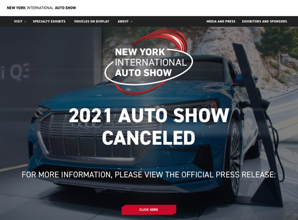 NYIAS webpage cancelled