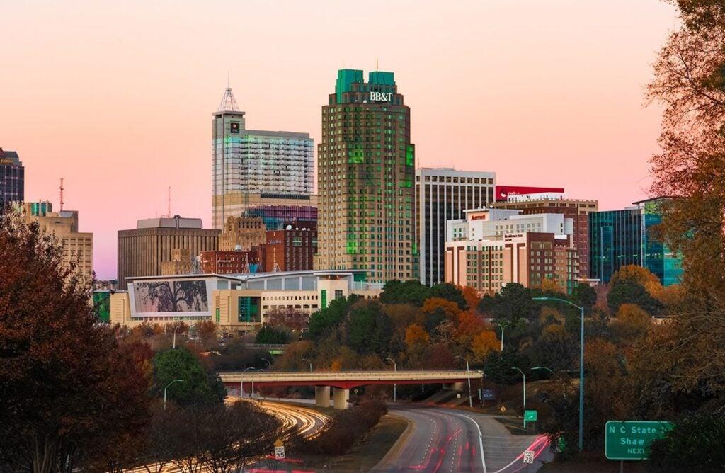 Raleigh NC at night
