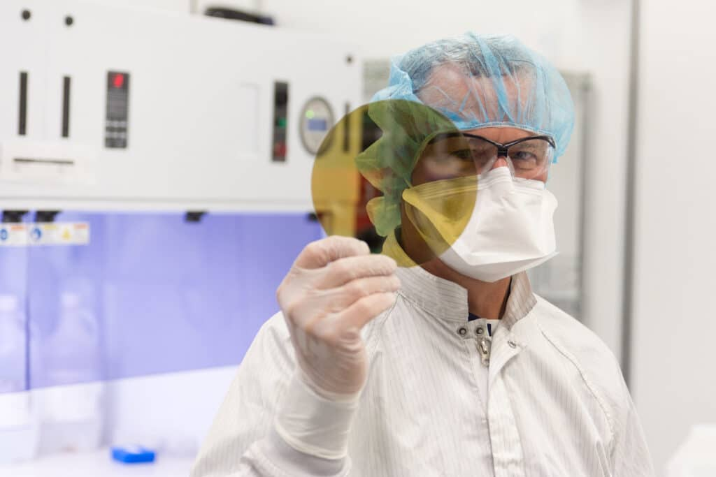 SK Siltron wafer production