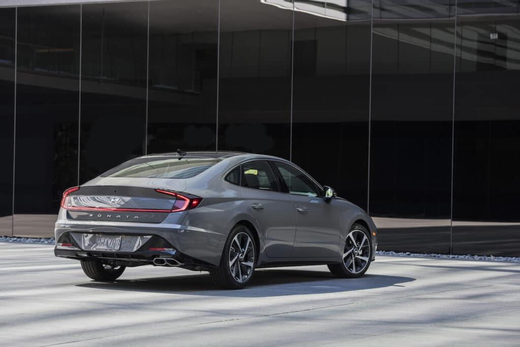 2021 Hyundai Sonata rear
