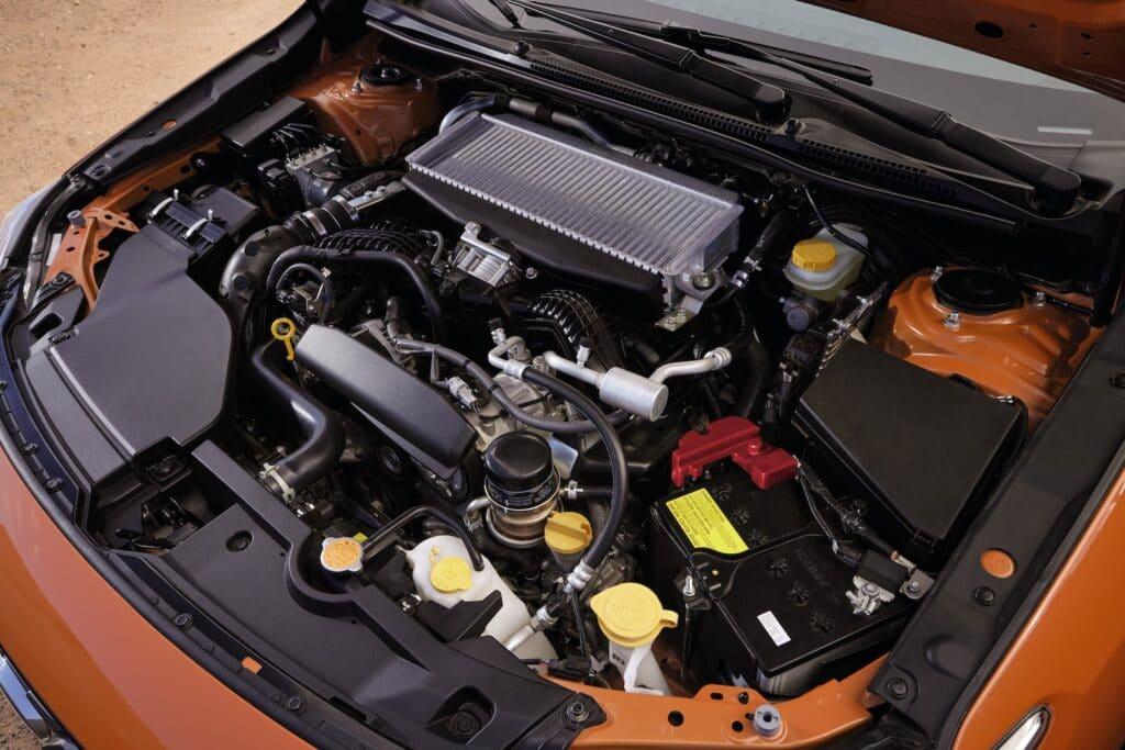 2022 Subaru WRX engine orange