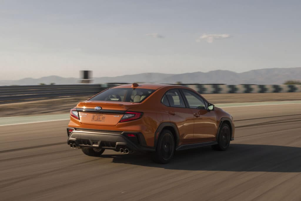 2022 Subaru WRX rear orange