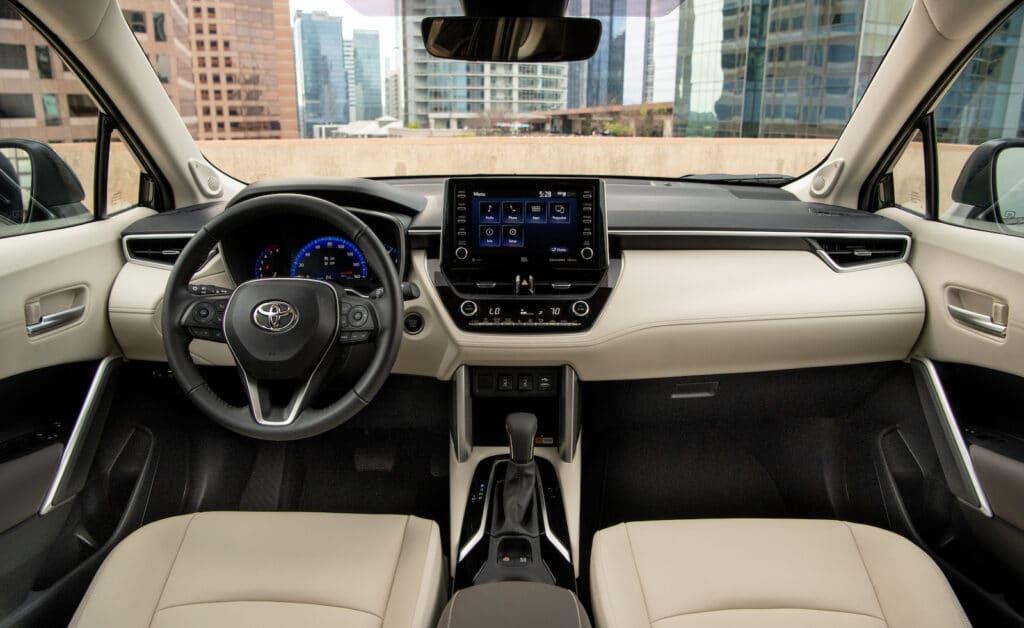 2022 Toyota Corolla Cross XLE Cypress interior