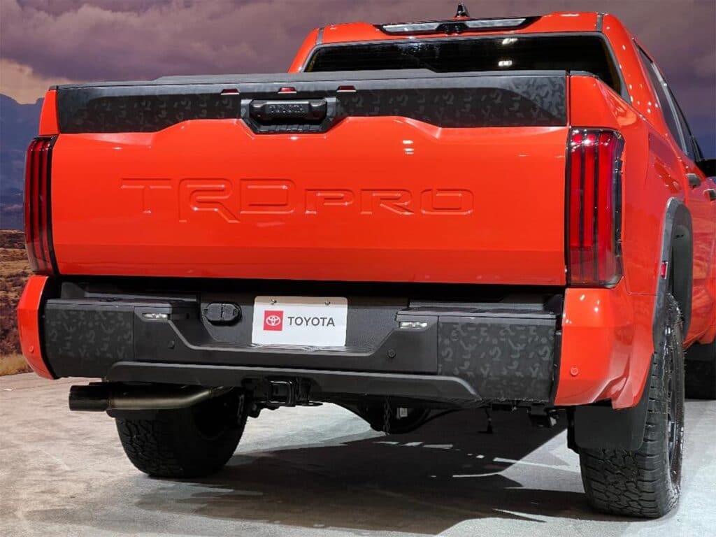 2022 Toyota Tundra - TRD Pro rear 3-4