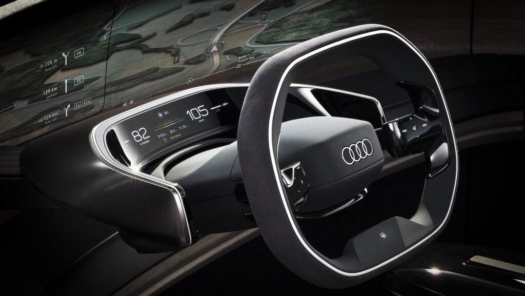Audi Grandsphere concept steering wheel
