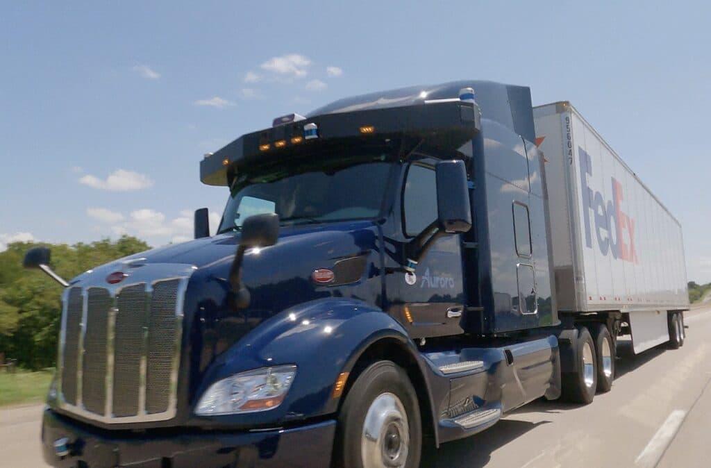 Aurora FedEx truck driving