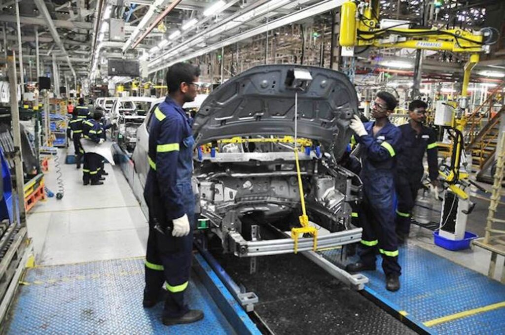 Ford India production line