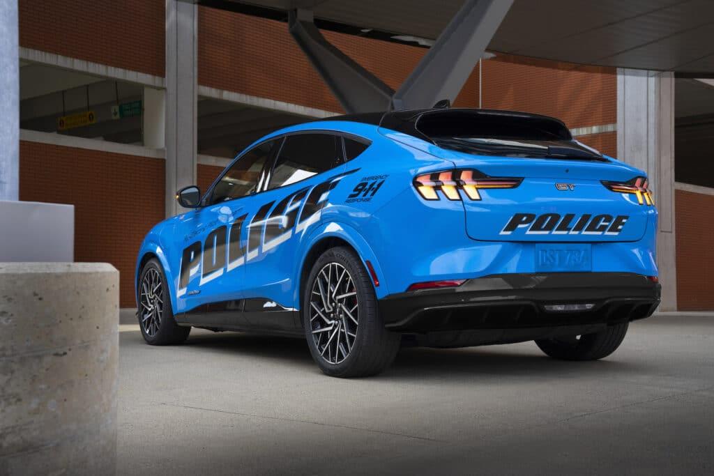 Ford Mach-E police car rear