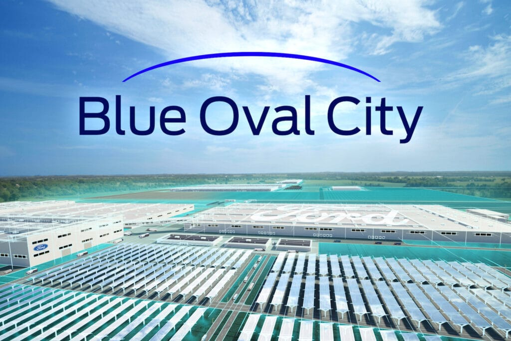 Fords blaue ovale Stadt