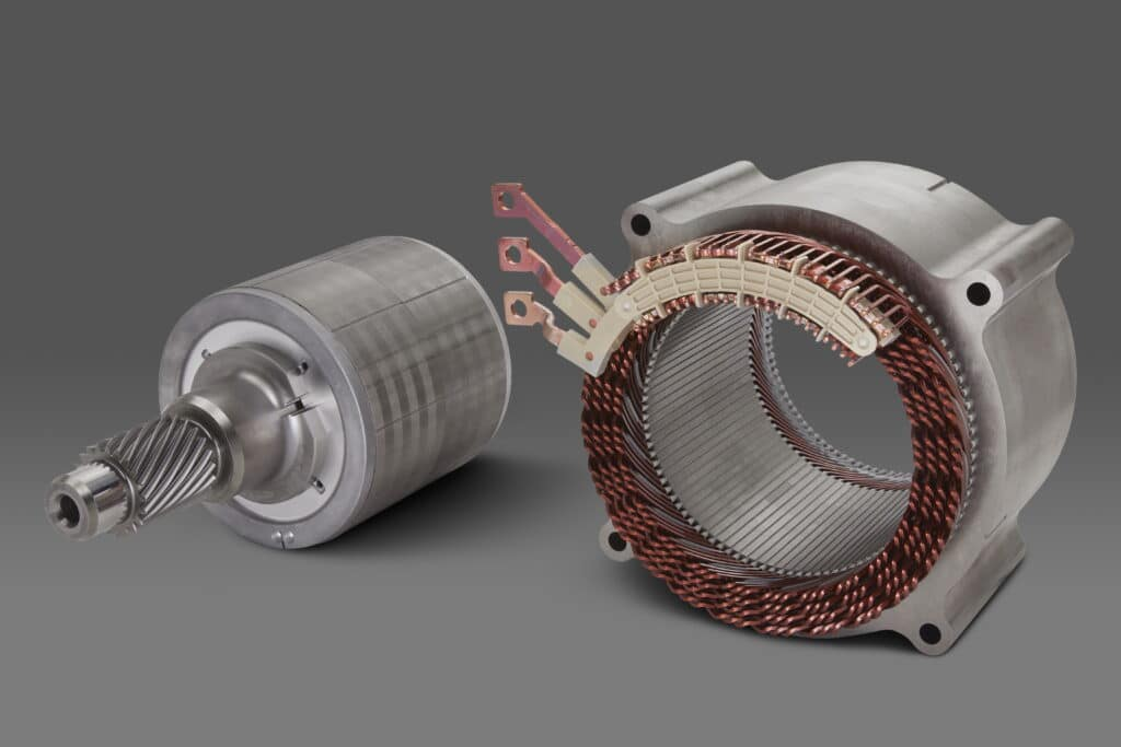 GM's 255-kW, permanent magnet EV motor will be used for perfor