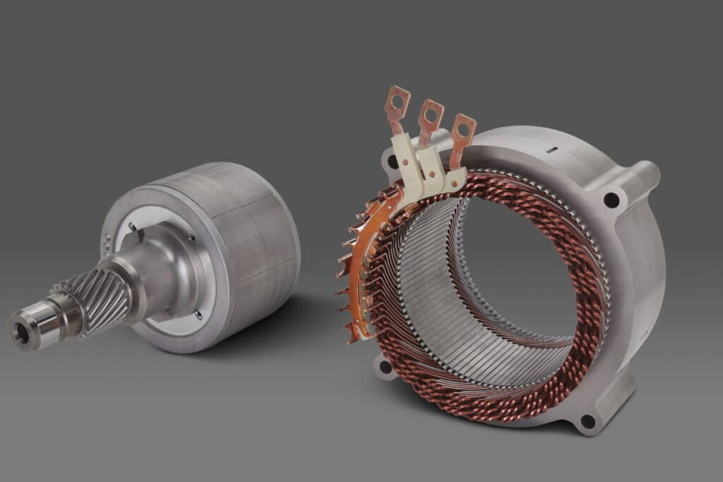 GM's 180-kW, permanent magnet EV motor will be used for front-