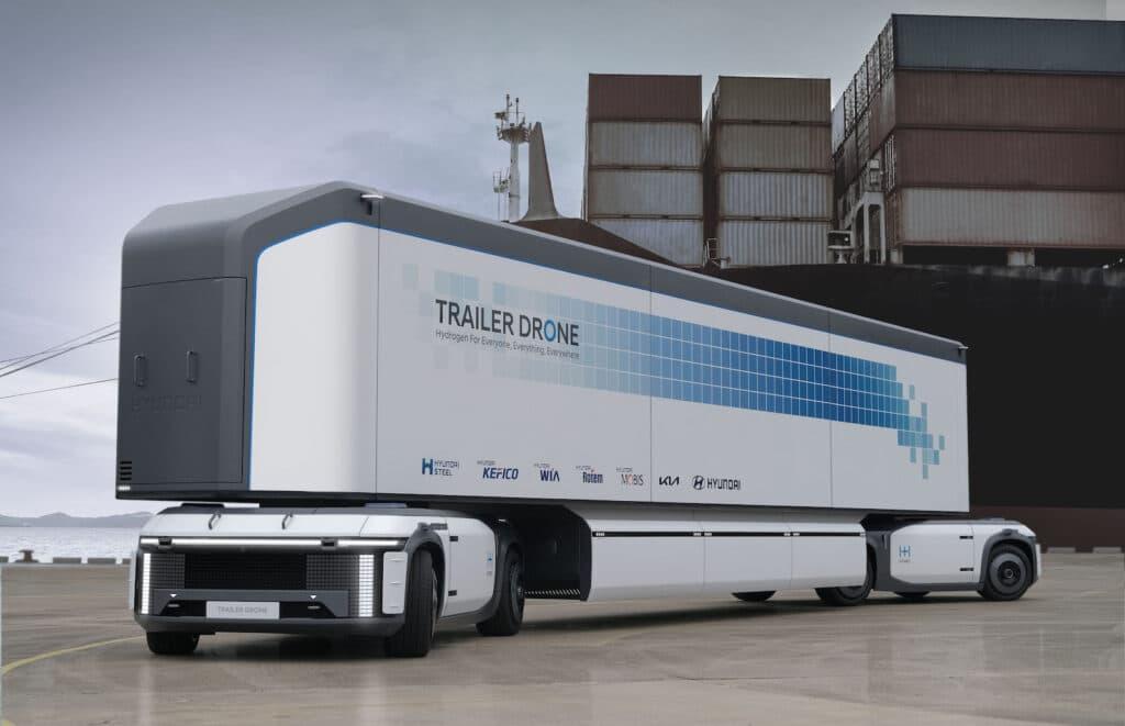 Hyundai hydrogen trailer drone