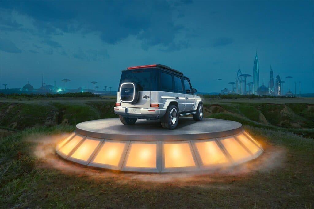 Mercedes-Benz Concept EQG - rear 3-4 on pedestal
