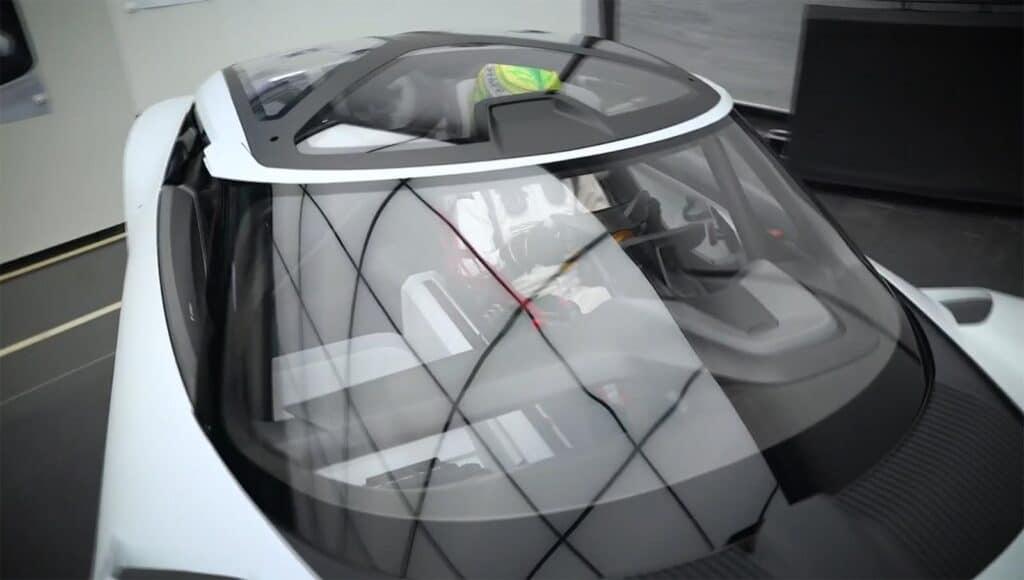 Porsche Mission R - glass roof
