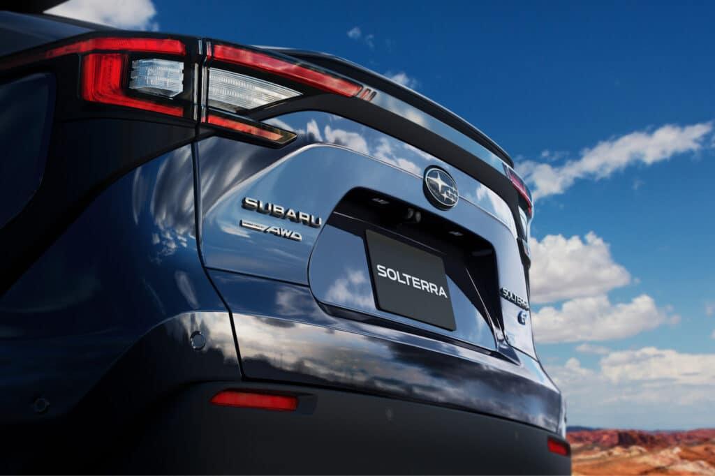 Subaru Solterra EV rear