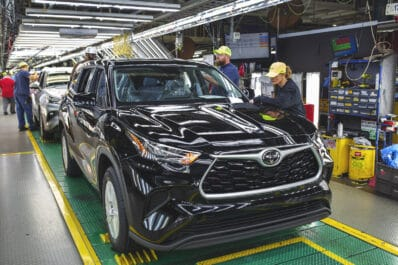 Toyota Highlander line Indiana plant