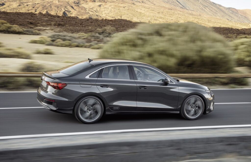 2022 Audi A3 grey driving side