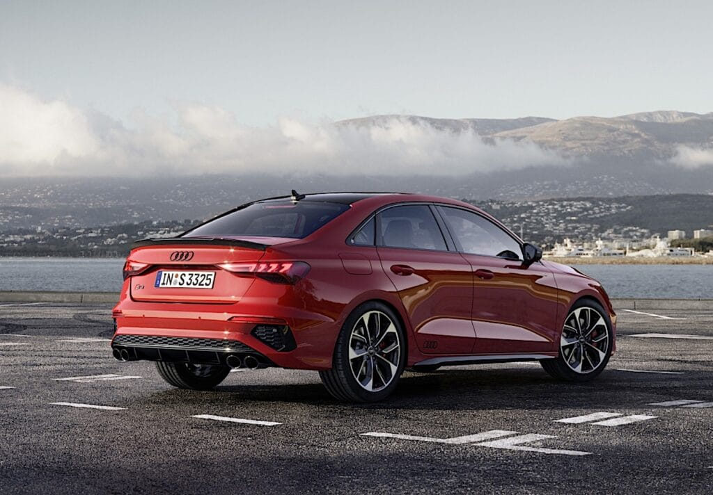 2022 Audi S3 rear red