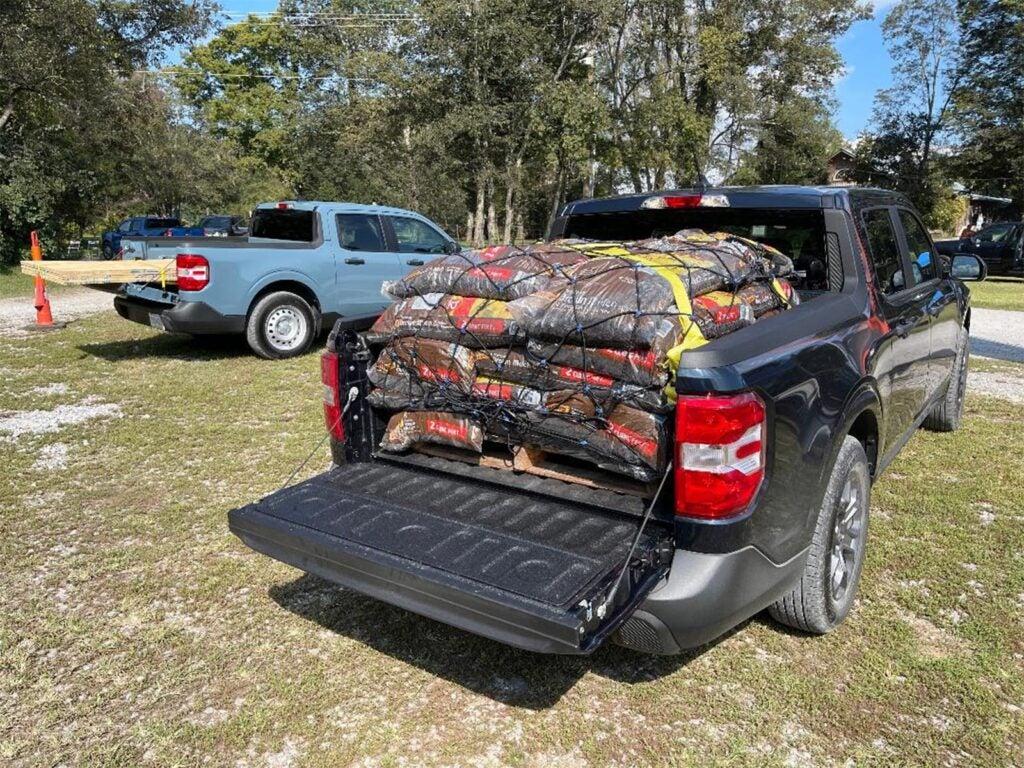 2022 Ford Maverick - cargo bed loaded up