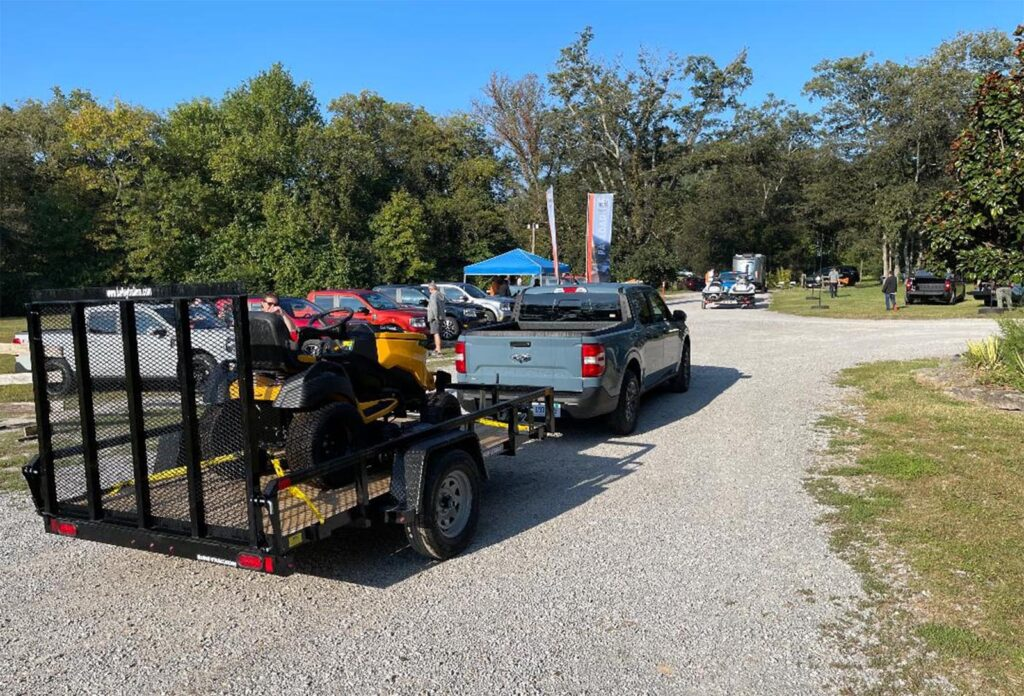 2022 Ford Maverick - hauling trailer