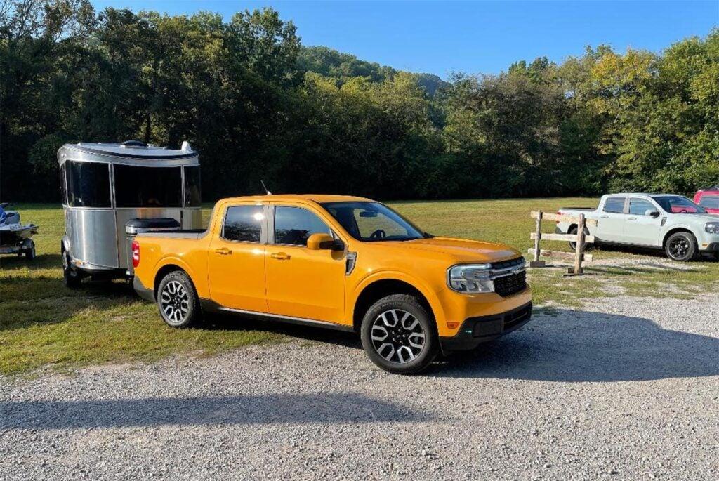 2022 Ford Maverick - hauling trailer v2