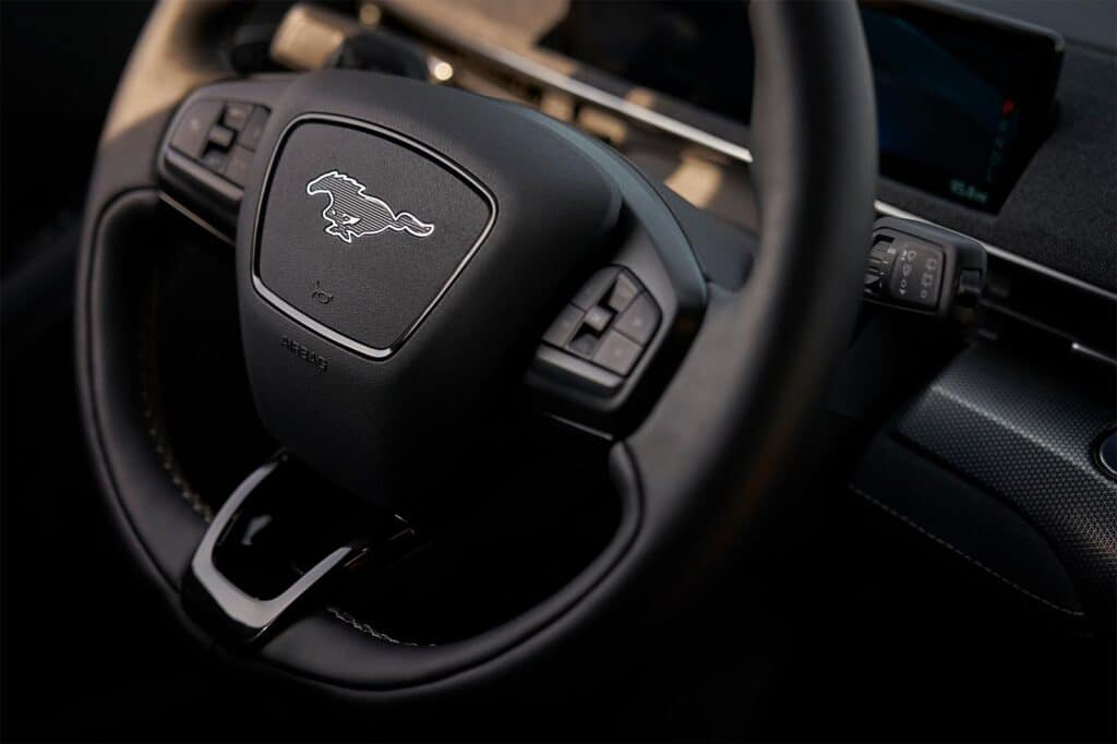 2022 Ford Mustang Mach-E GT - steering wheel
