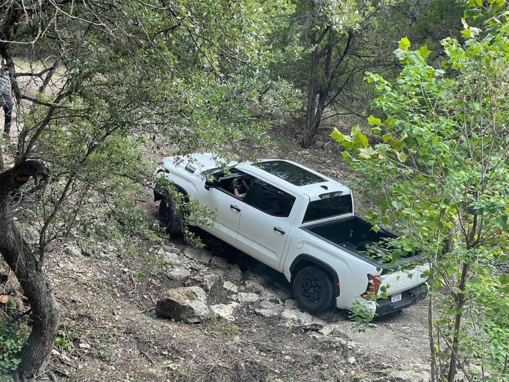 2022 Toyota Tundra TRD Pro - climbing hill