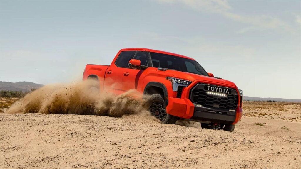 2022 Toyota Tundra TRD Pro - kicking up sand