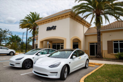 Hertz EV rentals two