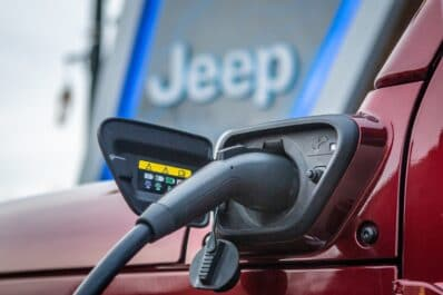 Jeep Wrangler charging port