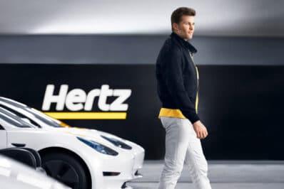Tom Brady Hertz EV rental ad one
